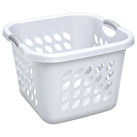 BASKET LAUNDRY 1.5BUSHEL WHITE