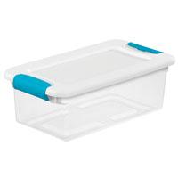 BOX LATCHING W/LID PLSTC 6QT