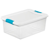 BOX LATCHING W/LID PLSTC 15QT