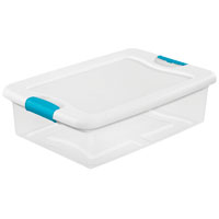 BOX LATCHING W/LID PLSTC 32QT