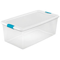 BOX LATCHING W/LID PLST 106QT