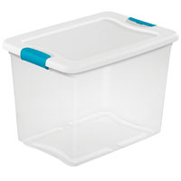 BOX LATCHING W/LID PLSTC 25QT