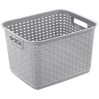 BASKET TALL WEAVE CEMENT