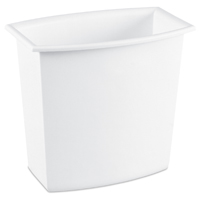Sterilite 1022 Rectangle Vanity Wastebasket, 2 gal 11-1/4 in L x 7-1/8 in W x 10-1/2 in D, White