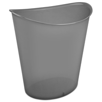 WASTEBASKET OVAL GRAY 3 GALLON