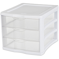 3-DRAWER UNIT WHITE