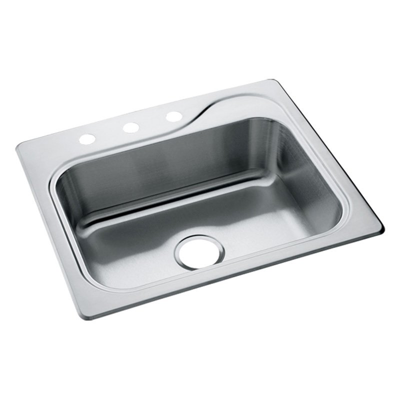 25 X 22 Three Hole Single Band 6.5 Stainless Steel SINK Single Pack