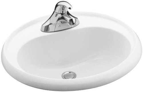 White 20 4 High Gloss Oval Lavatory