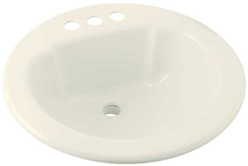 Biscuit 19 4 High Gloss Round Lavatory