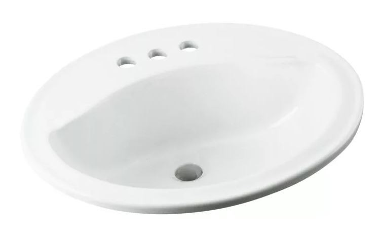 20 X 17 4 Vitreous China Lavatory Sanibel White