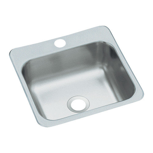 15 X 15 One Hole Bar Sink Stainless Steel