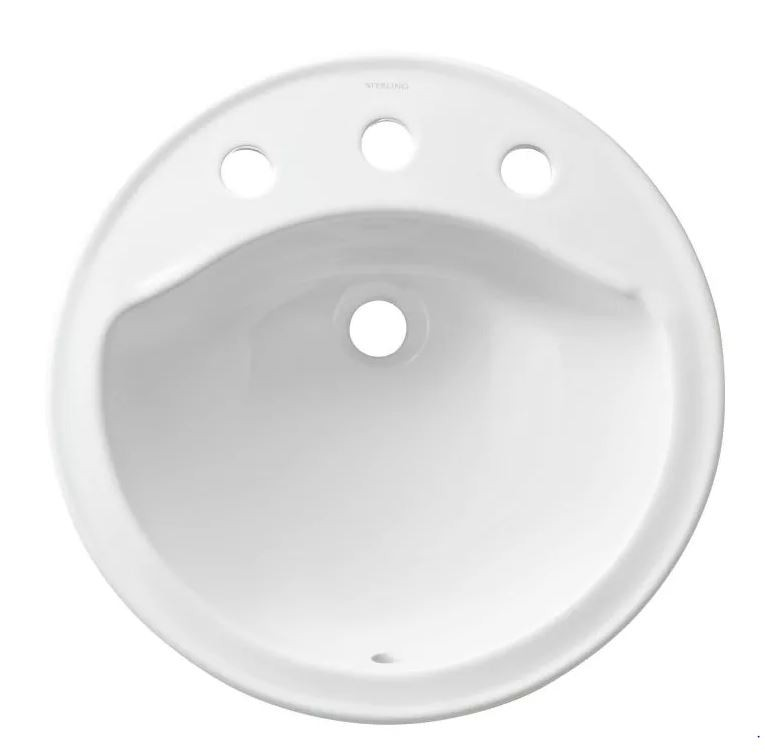 19 Round 8 Vitreous China Lavatory Modesto White