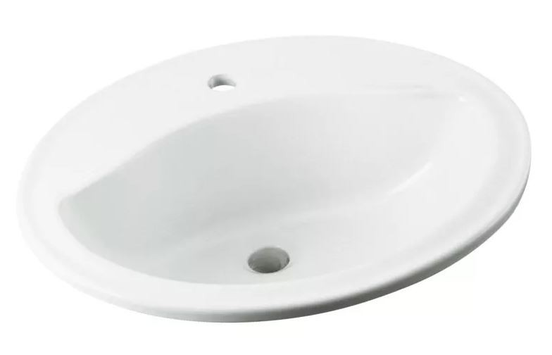 20 X 17 Self-Rimming Lavatory Sink Sanibel White