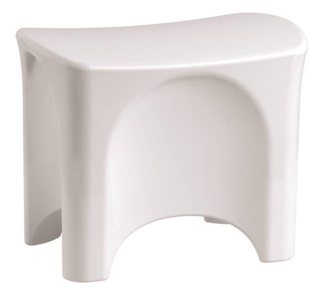 Free Standing Shower SEAT White