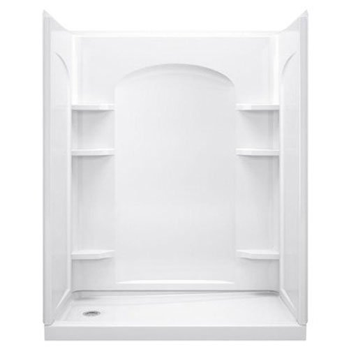 SHOWER WALL SET 30IN CURVE WHT