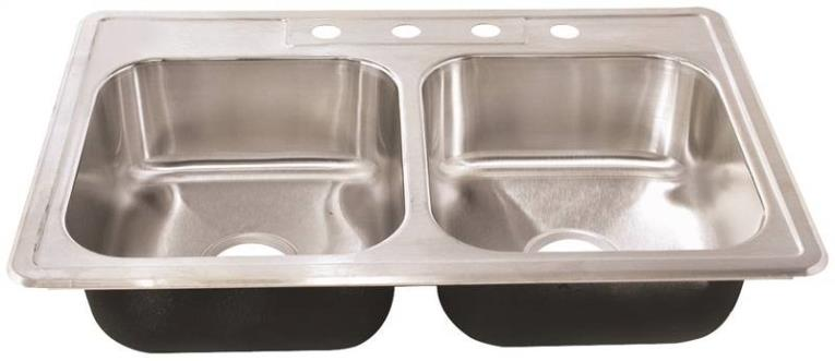 Kitchen Sink Stainless Steel Double 7 in