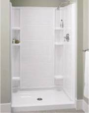 STERLING VIKRELL ENSEMBLE SHOWER BASE  ONLY, 48 IN. X 34 IN., WHITE