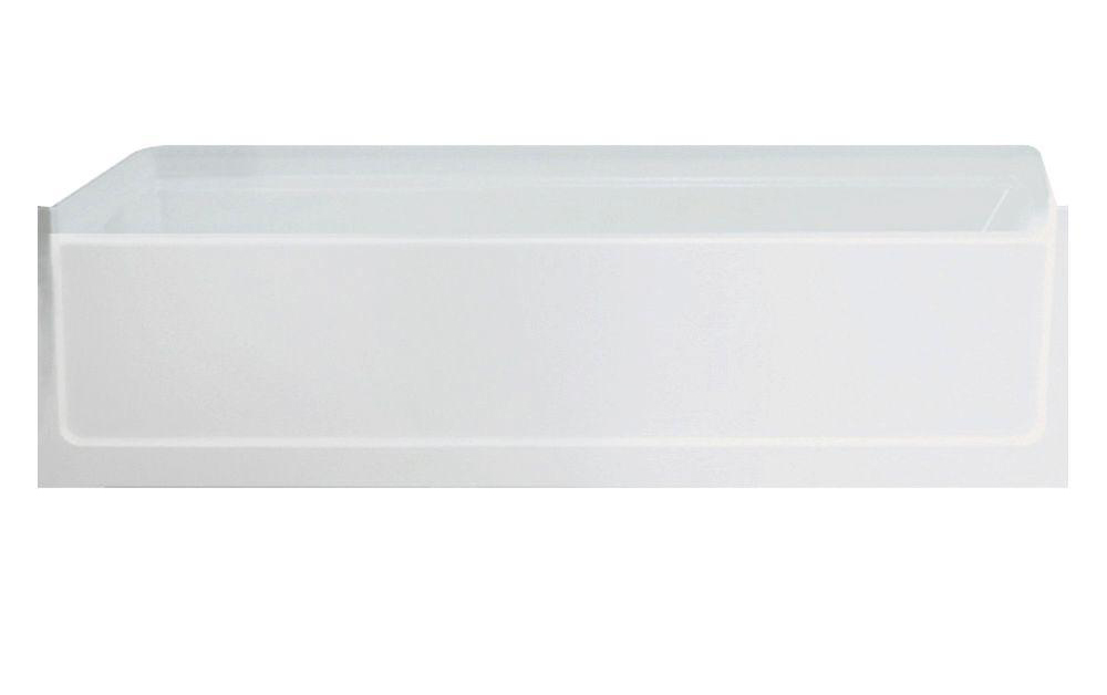"Advantage 60"" X 30"" Bathtub Finish: White, Drain Location: Left"