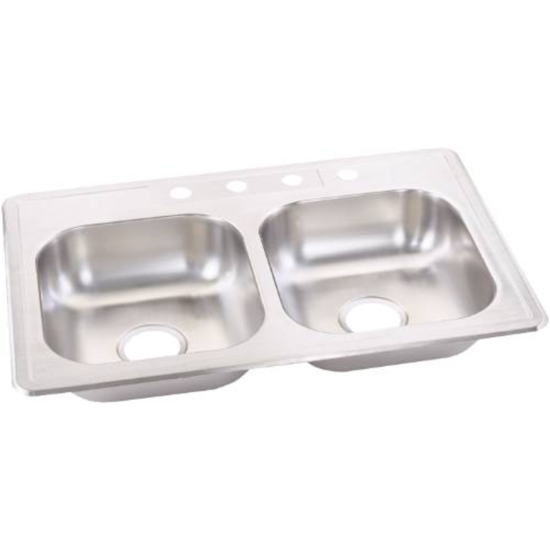 STERLING STAINLESS STEEL KITCHEN SINK DOUBLE BOWL 33 IN. X 22 IN. X 6 IN.