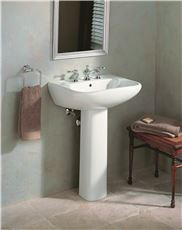 SOUTHAMPTION PEDESTAL BATHROOM LEG WHITE