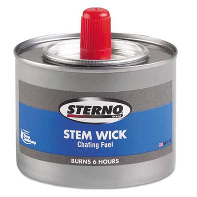 Chafing Fuel Can With Stem Wick, Methanol,1.89g, Six-Hour Burn, 24/Carton