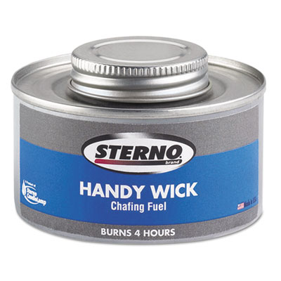 Handy Wick Chafing Fuel, Can, Methanol, Four-Hour Burn, 24/Carton