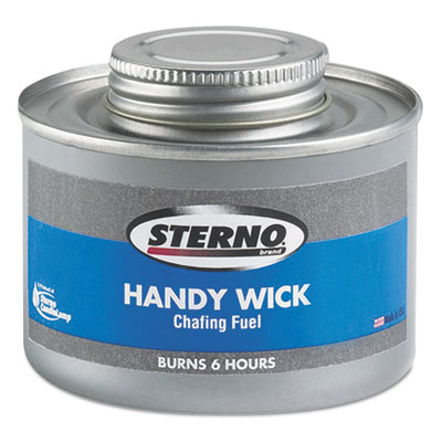 Handy Wick Chafing Fuel, Can, Methanol, Six-Hour Burn, 24/Carton