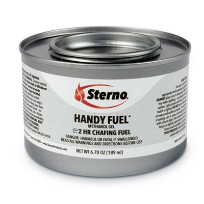 Handy Fuel Methanol Gel Chafing Fuel, 6.7 oz, Two-Hour Burn, 72/Carton
