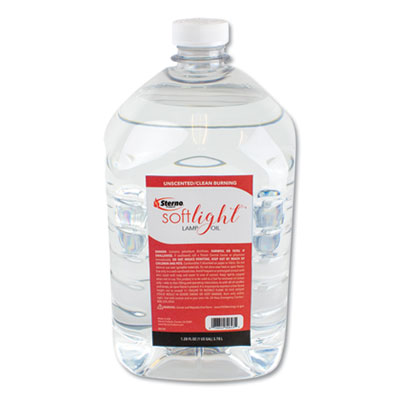 Soft Light Liquid Wax Lamp Oil, Clear, Gallon, 4 per Carton