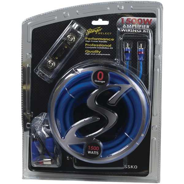 Stinger SSK0 Select Wiring Kit with Ultra-Flexible Copper-Clad Aluminum Cables (0 Gauge)