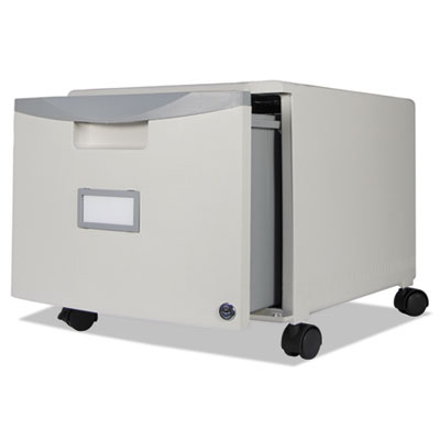 Single-Drawer Mobile Filing Cabinet, 14-3/4w x 18-1/4d x 12-3/4h, Gray