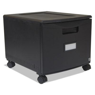 Single-Drawer Mobile Filing Cabinet, 14-3/4w x 18-1/4d x 12-3/4h, Black