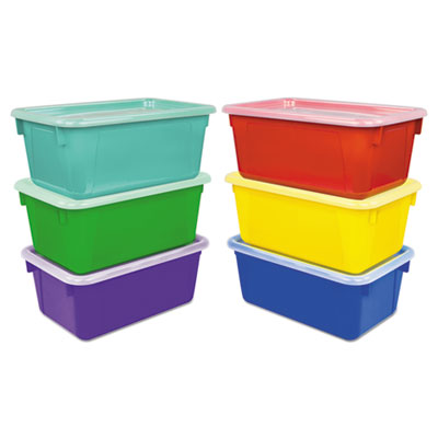 "Cubby Bins, 12.2"" x 7.8"" x 5.1"", Assorted, 6/Pack"