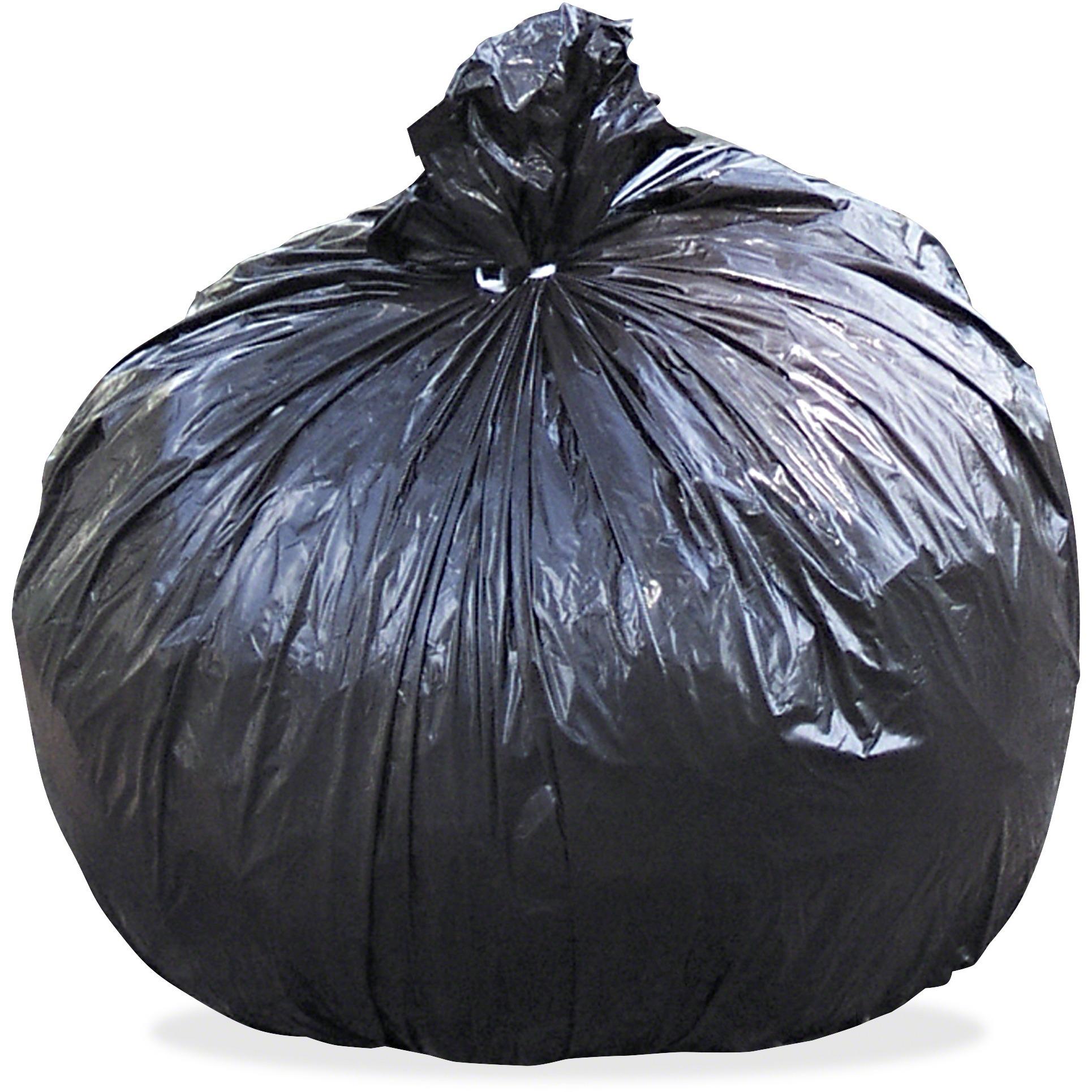 100% Recycled Plastic Garbage Bags, 60gal, 1.5mil, 36 x 58, Brown/Black, 100/CT