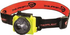 DOUBLE CLUTCH� RECHARGABLE HEADLAMP WITH USB CHARGER, DUAL-FUEL, 120 VOLT, YELLOW