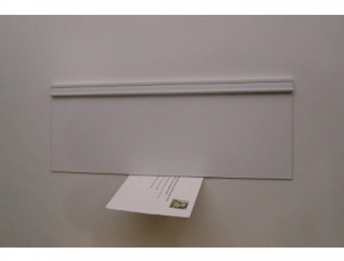 Energy Efficient Mail Slot Door - Draft Free - White - Wood-F/Glass Door