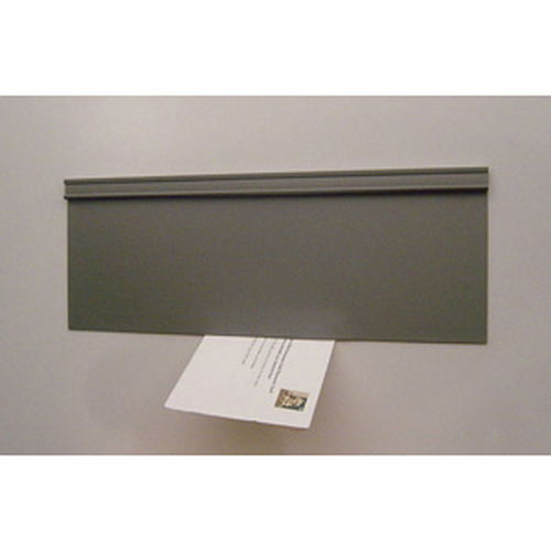 Energy Efficient Mail Slot Door - Draft Free - Pewter - Wood-F/Glass Door