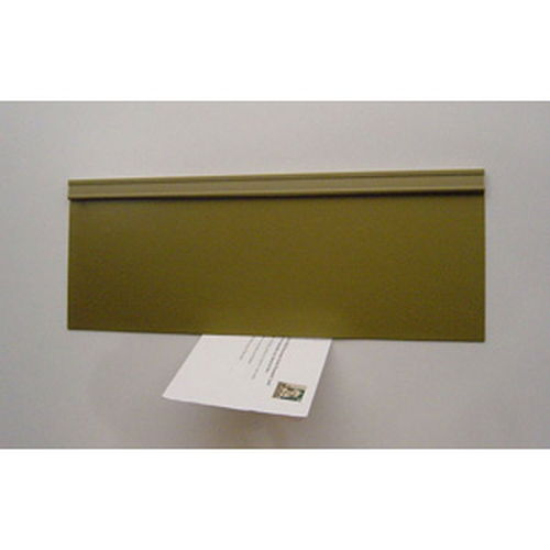 Energy Efficient Mail Slot Door - Draft Free - Gold - Metal Door