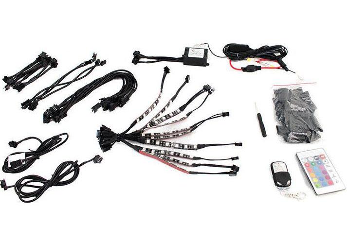 Street Vision StreetADAPT Adaptive RGB LED Motorcycle Kit (10 4