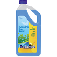 Drain Out DOB0632N Bathroom Drain Opener, 32 oz, Blue, Liquid, Citrus