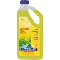 Drain Out DOK0632N Kitchen Drain Opener, 32 oz, Yellow, Liquid, Citrus