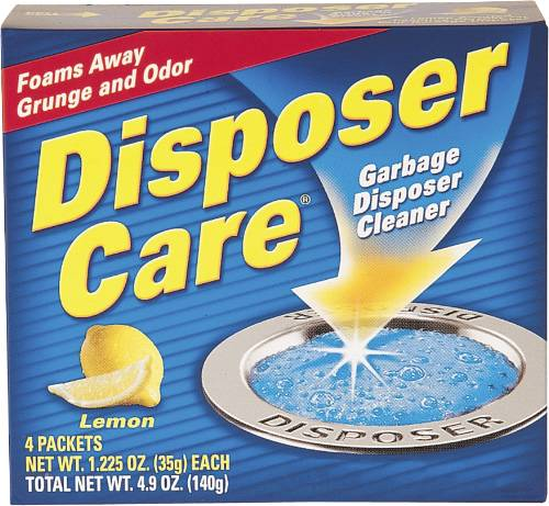 DISPOSER CARE� GARBAGE DISPOSAL CLEANER, LEMON SCENT, 4 PACKETS PER BOX