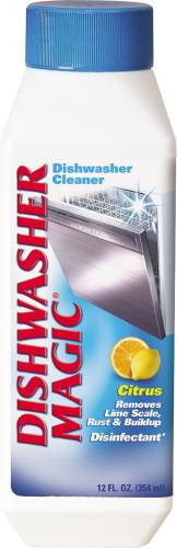 DISHWASHER MAGIC� DISHWASHER MINERAL BUILDUP REMOVER AND DISINFECTANT, 12 OZ.
