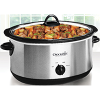 Crock-Pot SCV700-SS Manual Slow Cooker, 7 qt, Stainless Steel