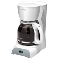 Mr. Coffee 12-Cup Manual Coffeemaker, White