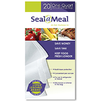 BAGS FOR SEAL-A-MEAL 20CT 1QT