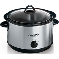 Crock-Pot SCR450-S Manual Slow Cooker, 4.5 qt, Stainless Steel