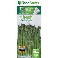 FoodSaver FSFSBF0626-P00 Heat-Seal Roll, 16 ft L x 11 in W, Clear