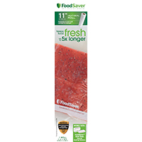 FoodSaver FSFSBF0616-P00 Heat-Seal Roll, 16 ft L x 11 in W, Clear