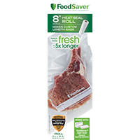 FoodSaver FSFSBF0516-P00 Heat-Seal Roll, 20 ft L x 8 in W, Clear